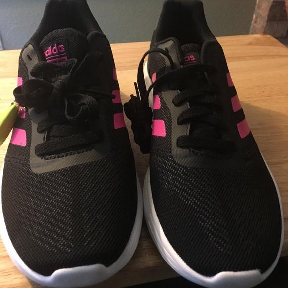 Adidas Neo Black Pink Women's Running Shoes
